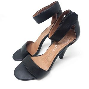 JEFFREY CAMPBELL   Hough Black Leather Heels